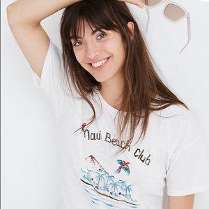 Madewell Maui Beach Club T- Shirt NWT